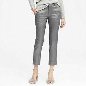 NWT Banana Republic Avery Silver Shimmer Pants
